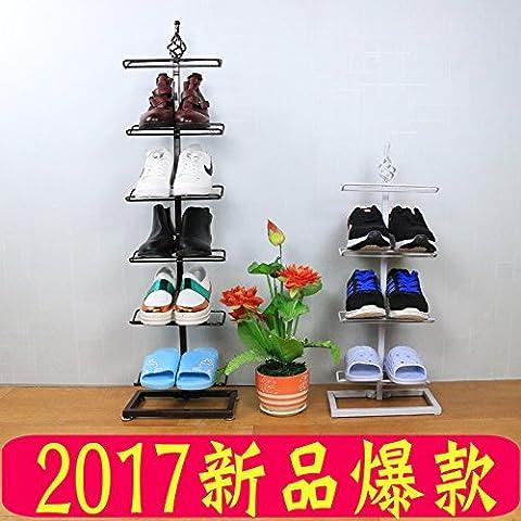 HJFF-Simple shoe rack multilayer economic domestic assembly dustproof shoe shelf simple modern dormitory housed shoe,Bronze [three]