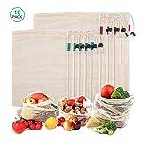 iTrunk 10er-Pack Wiederverwendbare Ineinander greifen Produce Taschen für Gemüse Obst Lebensmittel...