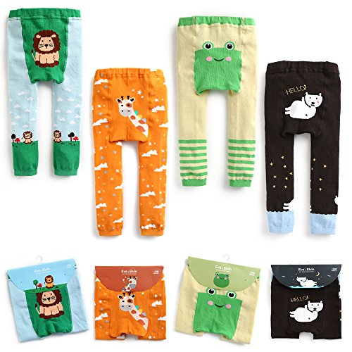 Baby Maedchen Baumwolle Footless Ankle Length Cotton Tights Leggings Girl Set 007 -