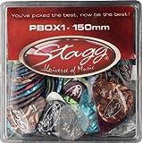Stagg PBOX1-150 Boîte de 100 médiators 1.50mm