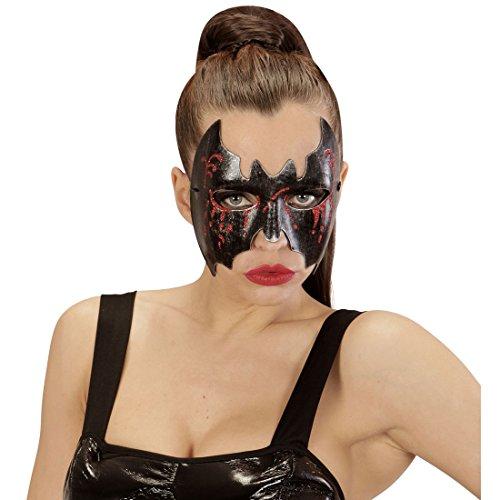 Fledermaus Maske Halloweenmaske Augenmaske Damen Fledermausmaske Vampirin Teufelsmaske Gruselmaske Bat Kostüm Accessoire (Fledermaus Vampirin)