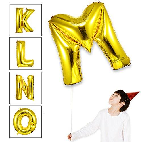 Takefuns 40 Zoll Gold Alphabet M Ballon Geburtstagsfeier Dekorationen Folie Mylar Helium Buchstaben Ballons