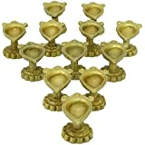 Beautiful Handcrafted Brass Diya For Diwali /Pooja/Temples-Set Of 12