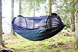 DD Frontline XL olivgrün - extra große outdoor Hängematte mit Moskitonetz
