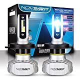 NOVSIGHT H4(9003 HB2 Hi/Lo) Ampoule phare Voiture LED,Etanche IP65 10000LM,...