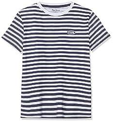 Pepe Jeans Jungen Cadell Pb502476 T-Shirt, Blau (Sailor 580), 14-15 (Herstellergröße: 164/14 Jahre)