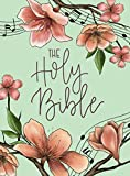 Niv, Artisan Collection Bible, Cloth Over Board, Turquoise Floral, Designed Edges Under Gilding, Red Letter Edition, Comfort Print - 3