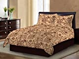 Bombay Dyeing Ivyrose 120 TC Cotton Double Bedsheet with 2 Pillow Covers - Brown