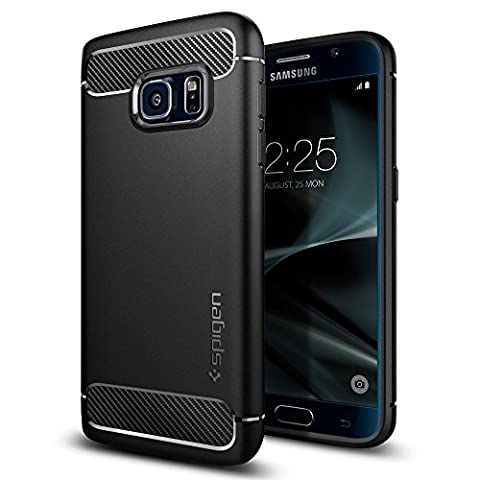 Samsung Galaxy S7 Hülle, Spigen® [Rugged Armor] Elastisch [Schwarz] Ultimative