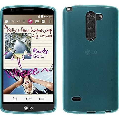Funda de silicona para LG G3 Stylus - transparente turquesa - Cover PhoneNatic Cubierta + protector de pantalla