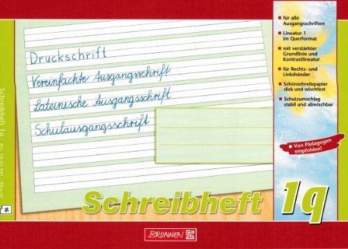 """Lernheft/Schreibheft\""""Brunnen\"""" Lin. 1q / A5 quer"""