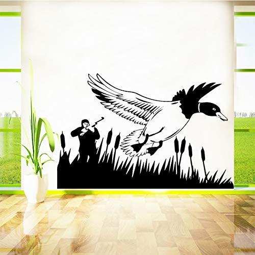 jiushizq Jagd Schwalbe Wandaufkleber Entfernbare Wandaufkleber DIY Tapete Für Wohnzimmer Schlafzimmer Stikers Für Wanddekoration Wandbilder Schwarz XL 58 cm X 42 cm