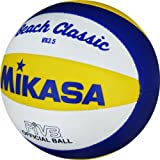 Mikasa VX 3,5 - Pelota pequeña de Volley Playa (15 cm), Color Azul, Amarillo y Blanco