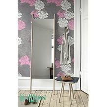 Romántico Rosa Patrón-Papel pintado, diseño de rosas-extraíble Rose-Adhesivo decorativo para pared de rosa-Adhesivo de Pared de rosa-Papel pintado autoadhesivo, rosa, 53 Cm wide by 121 Cm Tall