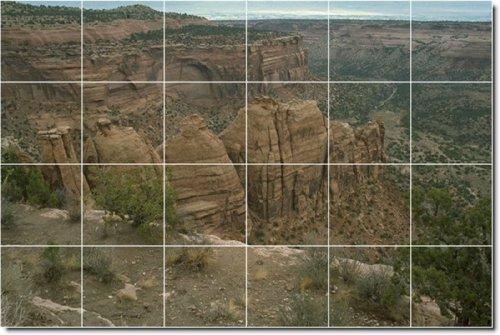 CAñONES FOTO DUCHA MURAL DE AZULEJOS 4  17X 25 5CM CON (24) 4 25X 4 25AZULEJOS DE CERAMICA
