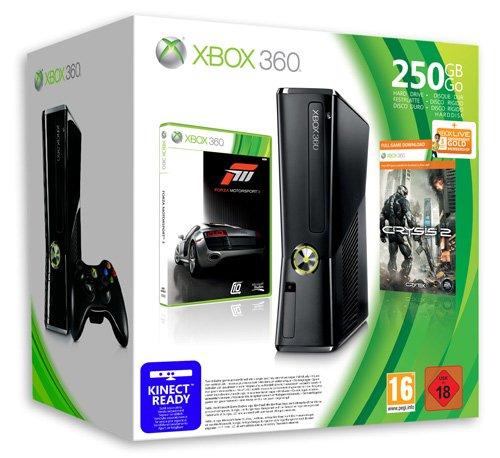 Foto Xbox 360 - Console Slim 250 GB con Forza Motorsport 3 e Crysis 2 [Bundle]