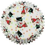 PME Pupazzo di Neve Pirottini per Cupcake e Muffin Piccoli, Carta, Multicolore, 100 unità
