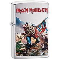 Zippo Iron Maiden Trooper Windproof Lighter - Brushed Chrome