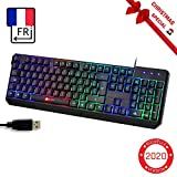 KLIMTM Chroma Clavier Gamer AZERTY FR + Durable, Ergonomique, Discret, Waterproof, Touches...