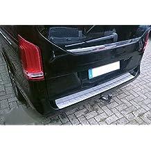Protección de acero inoxidable para el borde del maletero, apta para Mercedes Vito W447 y Clase V, a partir de 2014, con cantos con acabado mate