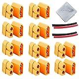 Boladge 10 Paar Vergoldet XT-60 XT60 Bullet Verbindungsstecker für RC Lipo Batterie (10 stücke Männlichen Stecker & 10 stücke Buchse)