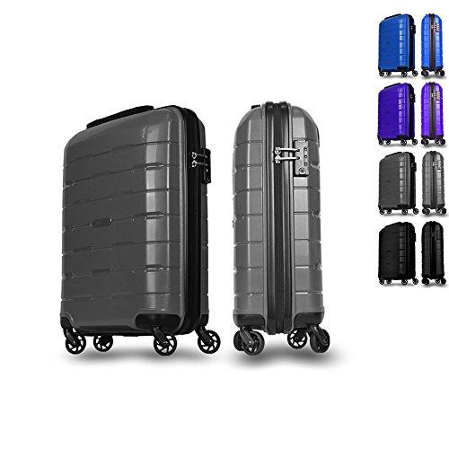 Valigia, trolley, borsa da viaggio, bagaglio a mano. Rivestimento resistente, Grandezza L grau