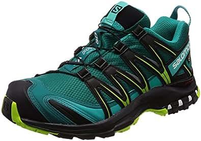 Salomon Damen XA Pro 3D GTX Trailrunning-Schuhe, Synthetik/Textil, türkis (deep lake/black/lime green), Gr. 36