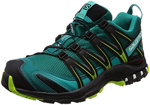 Salomon Damen XA Pro 3D GTX Trailrunning-Schuhe, Synthetik/Textil, türkis (deep lake/black/lime green), Gr. 36 (Schuhe Lake)