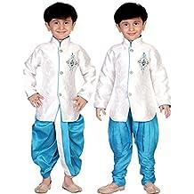 Dc9920- Dhoti Combo Kurta Pyjama Sherwani Dhoti Pyjama Indische Jungs Sherwani