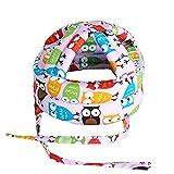 AOLVO - Casco de Seguridad para bebé, sin Golpes, capuchón para el Parachoques, Protector de Cabeza de bebé, Protector para la Cabeza, arneses de algodón Ajustables para niños