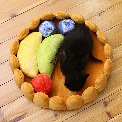 Yichener JY09 Hundebett, Obstkuchenform, hält warm