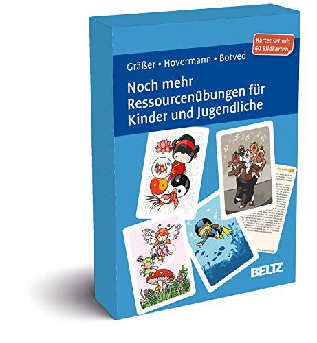 Noch mehr Ressourcenübungen für Kinder und Jugendliche: Kartenset mit 60 Bildkarten in stabiler Box, Kartenformat 9,8 x 14,3 cm. Mit 20-seitigem Booklet