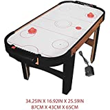 DOMENICO Fantasy Kids Re-Chargeable Wooden Indoor Air Hockey Game Table with AC/DC Adapter- 220V, 82 cm (Multicolour)