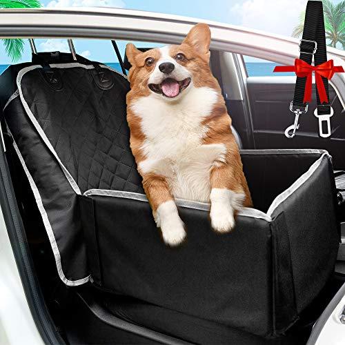 TBoonor Hunde Autositz für kleine bis Mittlere Hunde und Haustiere Wasserdicht Hundesitz Auto mit Sicherheits-Leine autositzbezug für Hunde Tragbare Autositze Hund praktischen Hunde sitzbezug