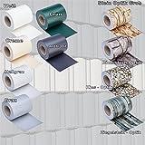 PVC Sichtschutz - Modell wählbar - Sichtschutzfolie Windschutz Stabmattenzaun Gartenzaun Blickdicht (35 Meter Rolle, Grau)