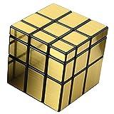 KEISL Cubo Rompecabezas,5.7cm Forma de Ajuste Fino Resorte mágico Cubo protección Ambiental ABS Cubo de Inteligencia de Tercer Orden (Oro-A)
