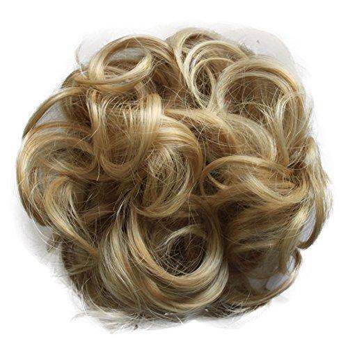 PRETTYSHOP Haarteil Haargummi Hochsteckfrisuren, Brautfrisuren, VOLUMINÖS, gelockter unordentlicher Dutt, blondmix #27H613 G13AL