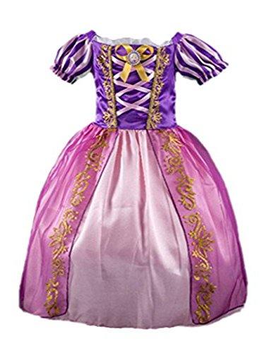 Kleid Grimms Märchen Kostüm Cosplay Mädchen Halloween Kostüm Violett#5, Gr.100 (Mädchen Halloween Kleidung)