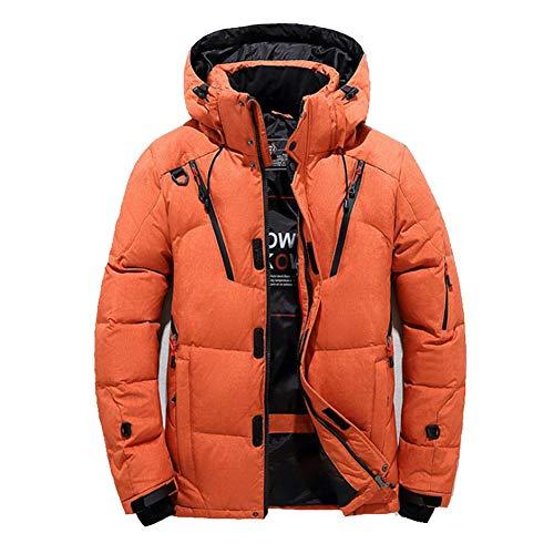 HWZZ Thermo Jacket,Daunenjacke für Männer/Thermojacken,Outdoor-Arbeitskleidung Winddichter Mantel,Geeignet für Outdoor-Aktivitäten und Arbeiten im Winter(L-3XL),Orange,XXL