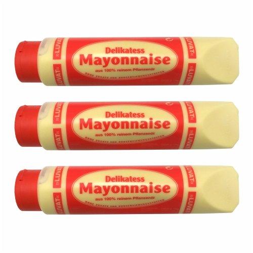 3x Luvat \'Delikatess Mayonnaise\', 875 ml