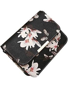 Frauen Umhängetaschen,Amlaiworld Frauen PU Leder Umhängetasche Satchel Handtasche Retro Messenger Bag