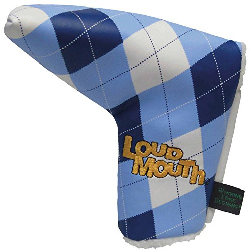 winning-edge-loudmouth-blue-and-white-putter-headcover