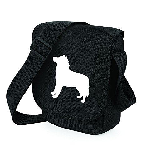 Bag Pixie - Borsa a tracolla unisex adulti White Dog Black Bag