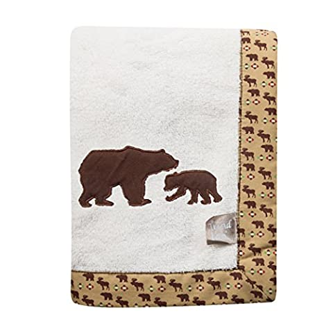 Trend Lab Northwoods Framed Receiving Blanket, Bears