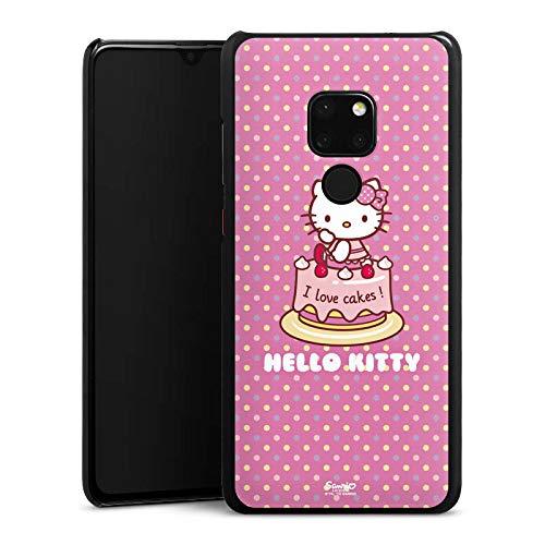 DeinDesign Hülle kompatibel mit Huawei Mate 20 Handyhülle Case Hello Kitty Merchandise Fanartikel I Love Cakes