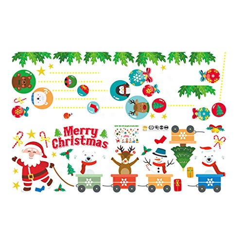 Xuthuly Christmas Wall Stickers Wohnkultur Aufkleber Cute Christmas Window Stickers -