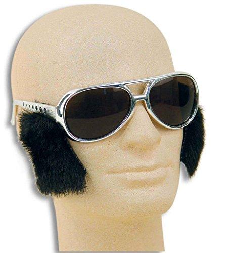 Brille mit Koteletten, Retro-Brille, King, ()