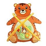 GZXGXY Gimnasio para Bebés, Manta De Juegos para Recién Nacidos, Estante De Fitness De Modelado Animal Recién Nacido, Adecuado para Bebés De 0 A 36 Meses,Tiger