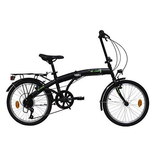 E.DE.N. Bikes Velo 20'' Pliant - 6 Vitesses Equipe Garde Boue ET Porte Bagages