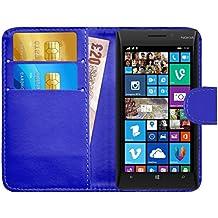 Funda Lumia 930, G-Shield Carcasa Libro de Cuero Con Tapa y Cartera [Ranuras para Tarjetas] [Cierre Magnético] Funda Billetera Case Cover Para Nokia Lumia 930 - Azul